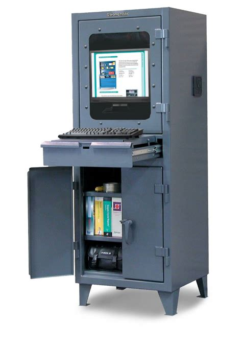 Computer Cabinet With Lock by Strong Hold Products Industrial Computer Cabinet With