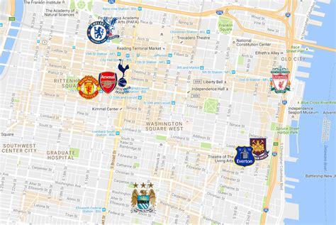 map of premier league teams where to your favorite premier league club