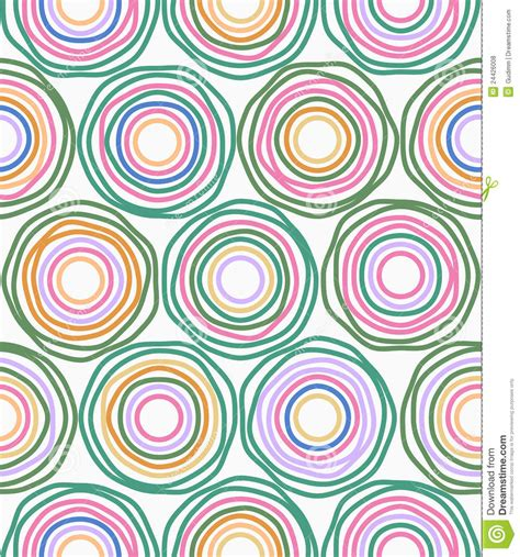 pattern circle vector vector multicolor circles seamless pattern stock vector
