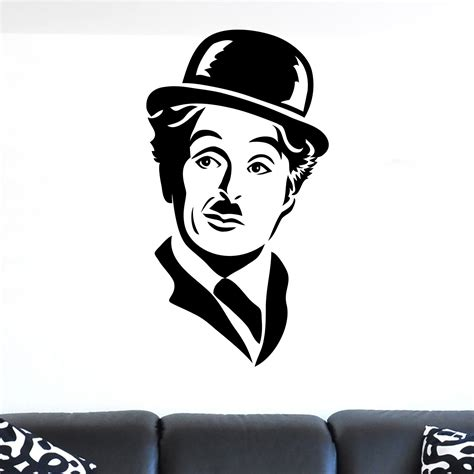 Apple Wall Stickers charlie chaplin face portrait wall sticker world of wall