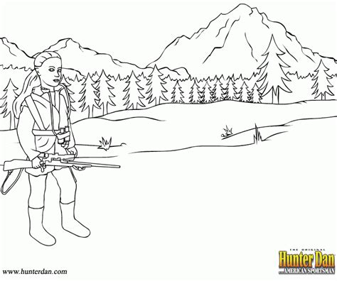hunting coloring page coloring home