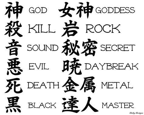 tattoo fonts japanese 100 beautiful japanese kanji symbols designs