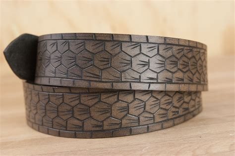 amigo carved leather belt handmade leather by moxie oliver
