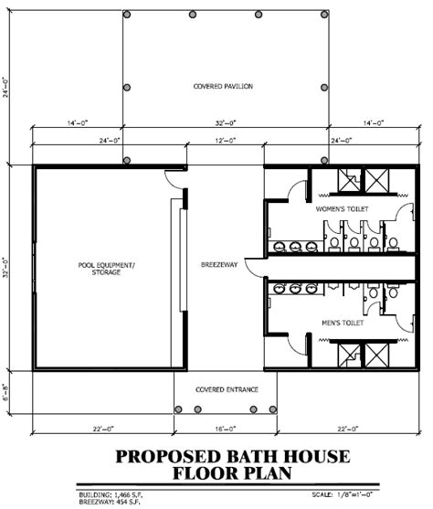 pool bath house plans capital caign