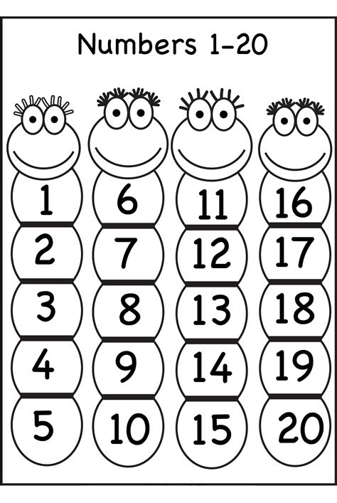 Numbers 1 20 Printable Games | trace number 1 20 worksheets activity shelter