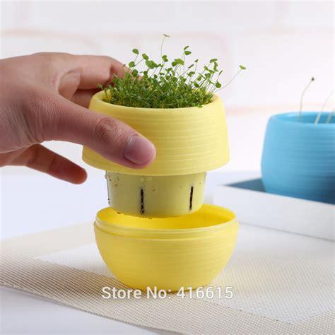 office pots mini colorful round succulent plant plastic flower pot