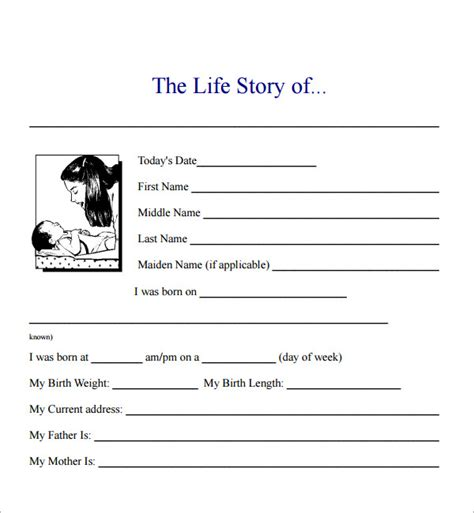 biography templates for students sle biography 6 exle format