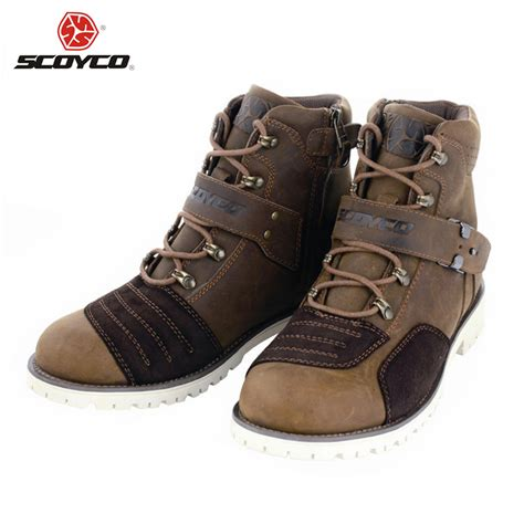 best motorcycle boots for street riding scoyco motorcycle touring boots vintage design casual wear