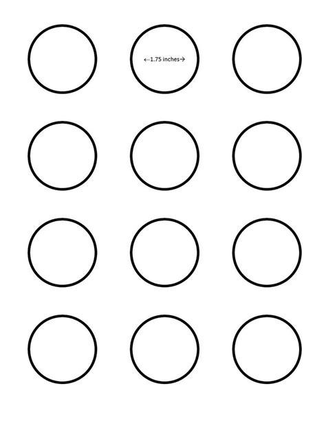 macaron baking sheet template macaron 1 75 inch circle template search i saved