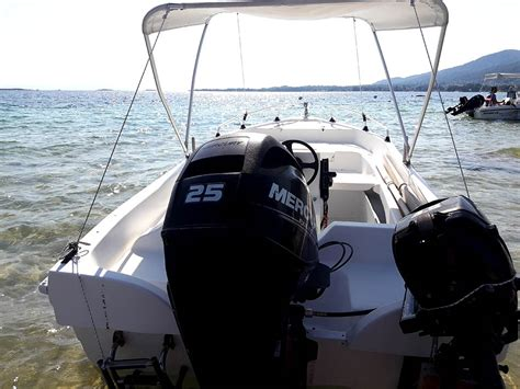 rent a boat vourvourou prices 25hp boat for 4 guest from 60