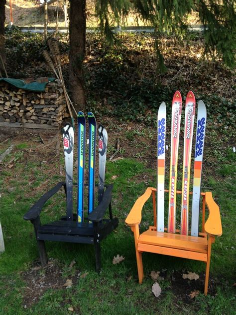 make adirondack chair from skis how to build an adirondack chair out of skis woodworking