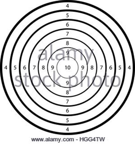 Black And White Gun Shooting Target Practice Paper With Bullet Holes Stock Photo Royalty Free Shooting Target Template