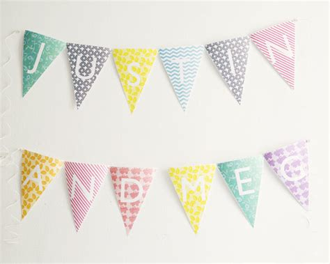 Printable Bunting Letters | be different act normal printable alphabet bunting