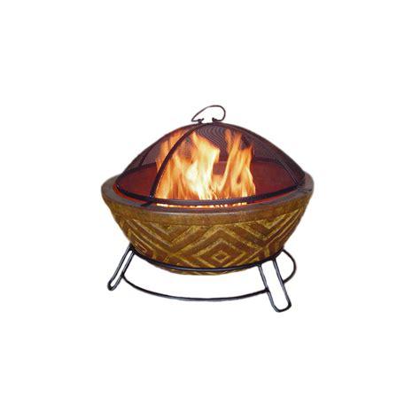 garden treasures pits shop garden treasures 22 in w copper clay wood burning