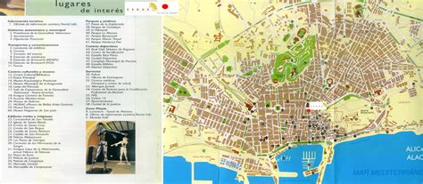 map of alicante city alicante costa blanca spain travel city guide