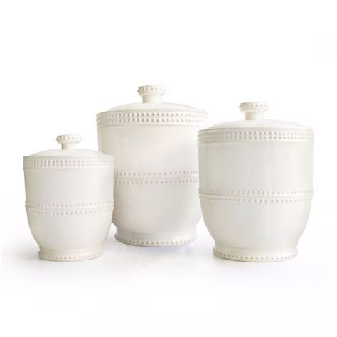white kitchen canisters sets white canister set storage kitchen jar modern 3 piece