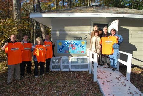 home depot in mantua makes donation to the arc gloucester