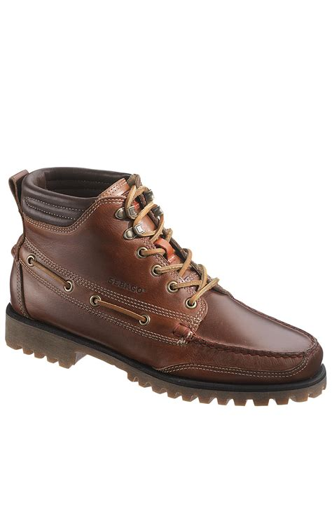 sebago boots lyst sebago the gibraltar boots in brown for