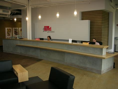 Concrete Reception Desk Misc Photos Gallery Benchmark Woodworks Co