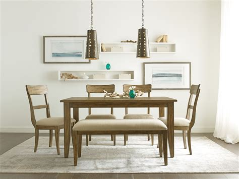 nook dining room set the nook oak 60 quot rectangular dining room set from kincaid