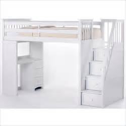 School house stair loft bed in white 7090nl ne kids