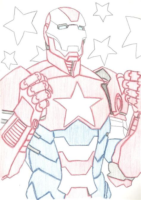 how to draw iron patriot