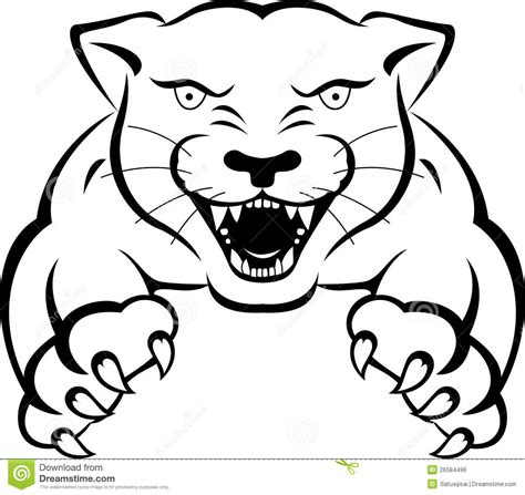 panther tattoo royalty free stock image image 26584496