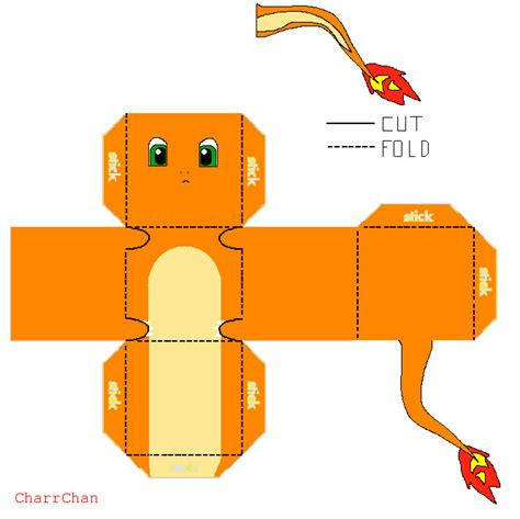 Easy Papercraft - charmander papercraft by charrchan on deviantart