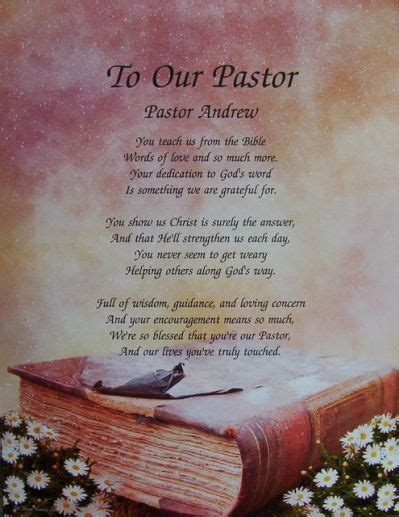 inspirational poems for pastor anniversary   Yahoo Search