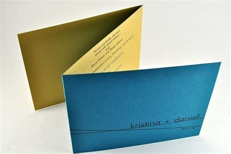 Wedding Invitations Unique Folds by Simple Modern Wedding Tri Fold Wedding Invitation In Teal