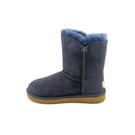 Basement Wine Bar by Ugg Australia Bailey Button Youth Girls Suede Black Winter