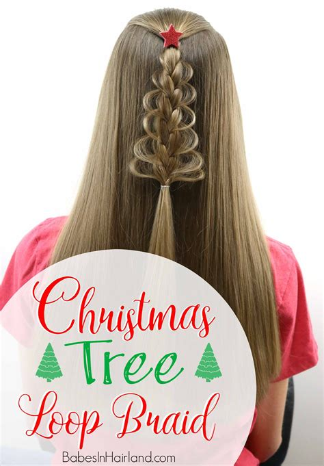 christmas tree hairstyle for girls tree loop braid in hairland