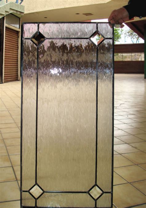This Cabinet Glass Insert Has An Outer Border With Bevels Cabinet Door With Glass Insert