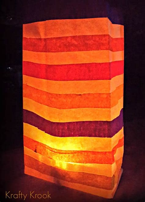 How To Make Paper Bag Luminaries - make lanterns luminaries 20 diy a of rainbow