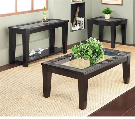 Table Folsom dreamfurniture folsom end table with glass insert
