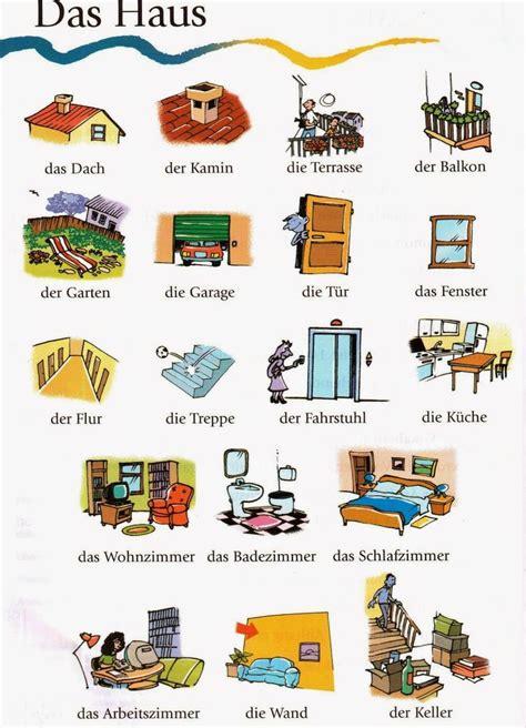 online tutorial german language deutsch lernen mit bildern das haus wortschatz home