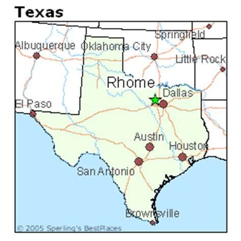 rhome texas map best places to live in rhome texas