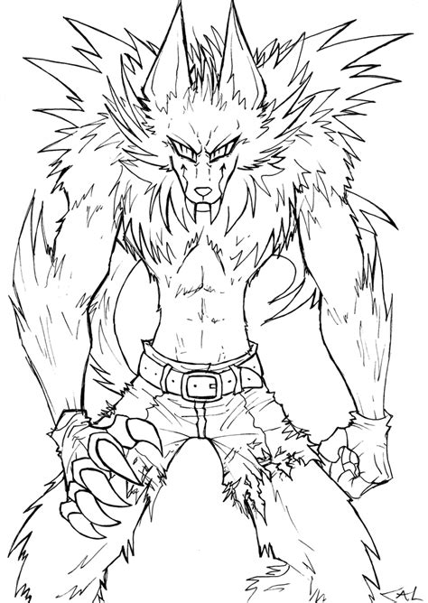 realistic werewolf coloring pages coloring pages