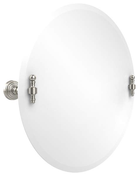 22 quot tilt mirror polished nickel transitional