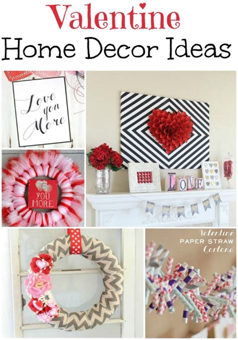 valentine home decorating ideas valentine home decor roundup food crafts and family
