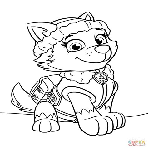 coloring pages of everest from paw patrol 15 paw patrol kleurplaat