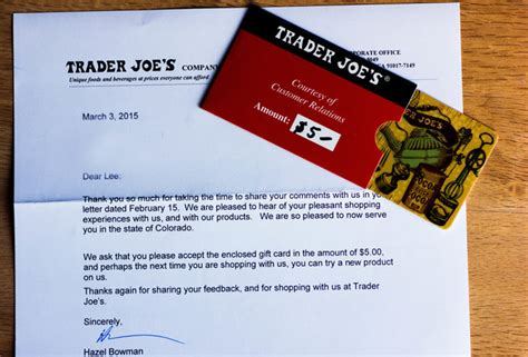 Trader Joe S E Gift Card - how to get free stuff from companies