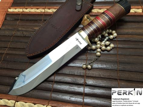 Handmade Bowie Knives Uk - handmade knife j2 steel perkin
