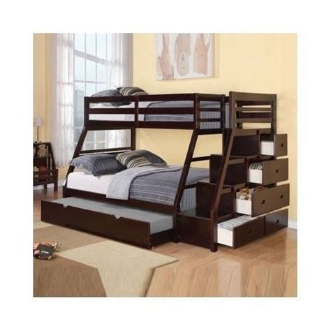 bunk beds w trundle stairway chest