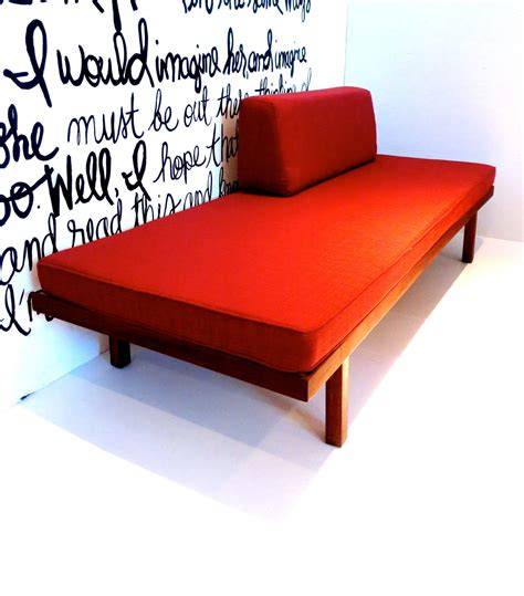 modern daybed frame 1950s american modern mid century sofa daybed in solid