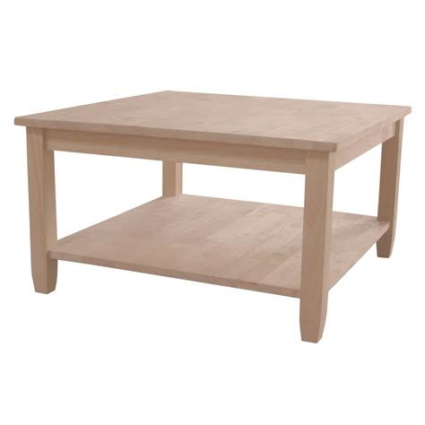 unfinished solano square coffee table 32x32x18 quot h wwot6sc - Unfinished Square Coffee Table