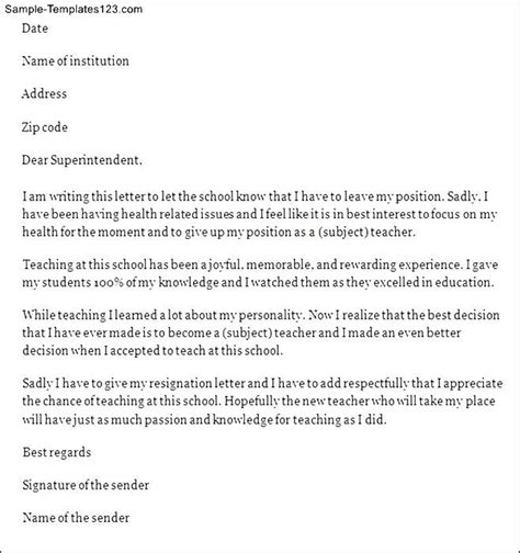 Resignation Letter Going Back To School Sle Resignation Letter Going To School Resignation Letter Search And On