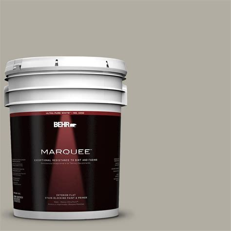 behr marquee 5 gal 790d 4 granite boulder flat exterior paint 445405 the home depot