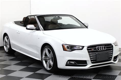 convertible audi white 2013 used audi s5 cabriolet certified s5 convertible awd