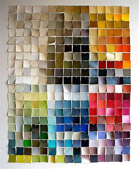 paint chips 25 diy wall art ideas that spell creativity in a whole new way